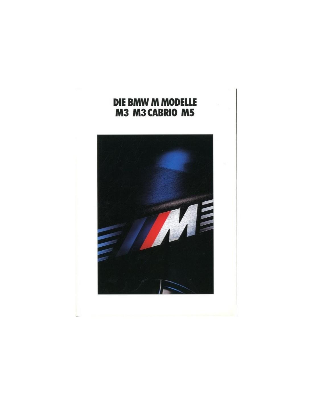 Bmw Z3 Brochure: 1990 BMW M3 CONVERTIBLE M5 BROCHURE GERMAN