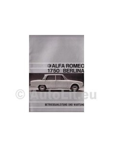 1970 ALFA ROMEO 1750 BERLINA OWNERS MANUAL HANDBOOK GERMAN