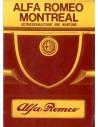 1971 ALFA ROMEO MONTREAL INSTRUCTIEBOEKJE DUITS