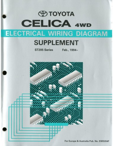 1994 Toyota Celica Electrical Wiring Diagram Workshop Manual Englis