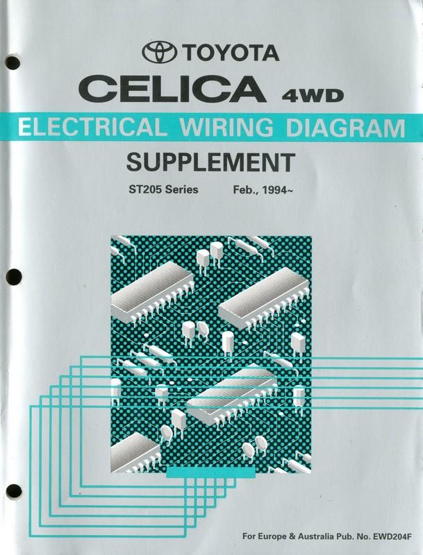 1994 Toyota Celica Electrical Wiring Diagram Workshop