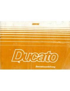 1984 FIAT DUCATO INSTRUCTIEBOEKJE DUITS