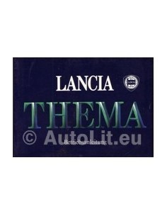 1985 LANCIA THEMA OWNERS MANUAL HANDBOOK GERMAN