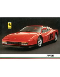 1986 FERRARI PROGRAMMA BROCHURE UK