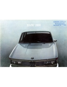 1965 BMW 2000 BROCHURE NEDERLANDS