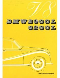 1961 BMW 2600 3200 L V8 BROCHURE DUITS