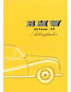 1960 BMW 2600 LUXUS 3200 V8 BROCHURE DUITS
