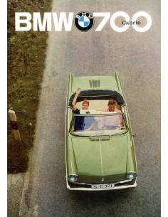 1962 BMW 700 CABRIO BROCHURE DUITS