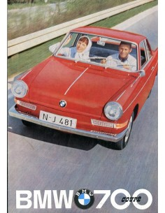 1962 BMW 700 COUPE BROCHURE DUITS