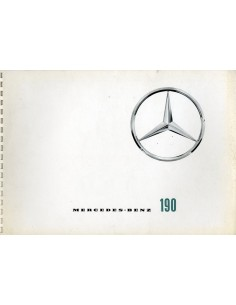 1963 MERCEDES BENZ 190 190D  BROCHURE DUITS