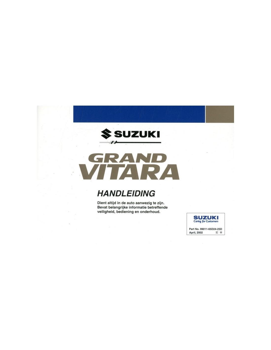 2002 suzuki grand vitara owners manual