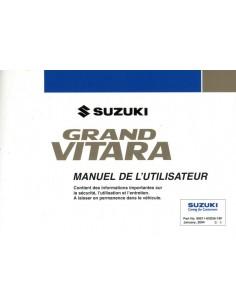 2004 SUZUKI GRAND VITARA INSTRUCTIEBOEKJE FRANS