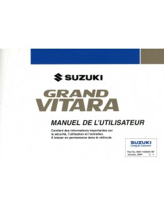 2004 SUZUKI GRAND VITARA INSTRUCTIEBOEKJE FRANS