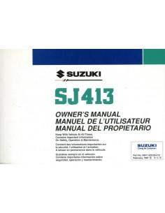 1997 SUZUKI SJ413 INSTRUCTIEBOEKJE SPAANS ENGELS FRANS