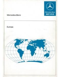 1986 MERCEDES BENZ SERVICE EUROPA HANDLEIDING