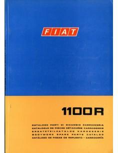 1969 FIAT 1100 R CARROSSERIE ONDERDELENHANDBOEK