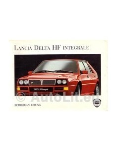 1993 LANCIA DELTA HF INTEGRALE OWNERS MANUAL GERMAN