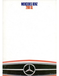 1968 MERCEDES BENZ 280 SL BROCHURE NEDERLANDS
