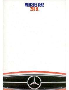 1968 MERCEDES BENZ 280 SL BROCHURE NEDERLANDS