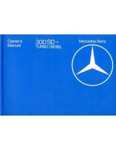 1982 MERCEDES BENZ S KLASSE 300SD TURBO DIESEL INSTRUCTIEBOEKJE ENGELS