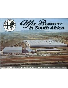 1974 ALFA ROMEO SOUTH AFRICA PROGRAMMA BROCHURE ENGELS