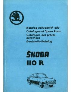 1974 SKODA 110 R ONDERDELEN CATALOGUS