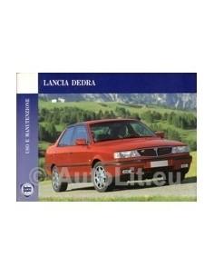 1993 LANCIA DEDRA OWNERS MANUAL HANDBOOK ITALIAN