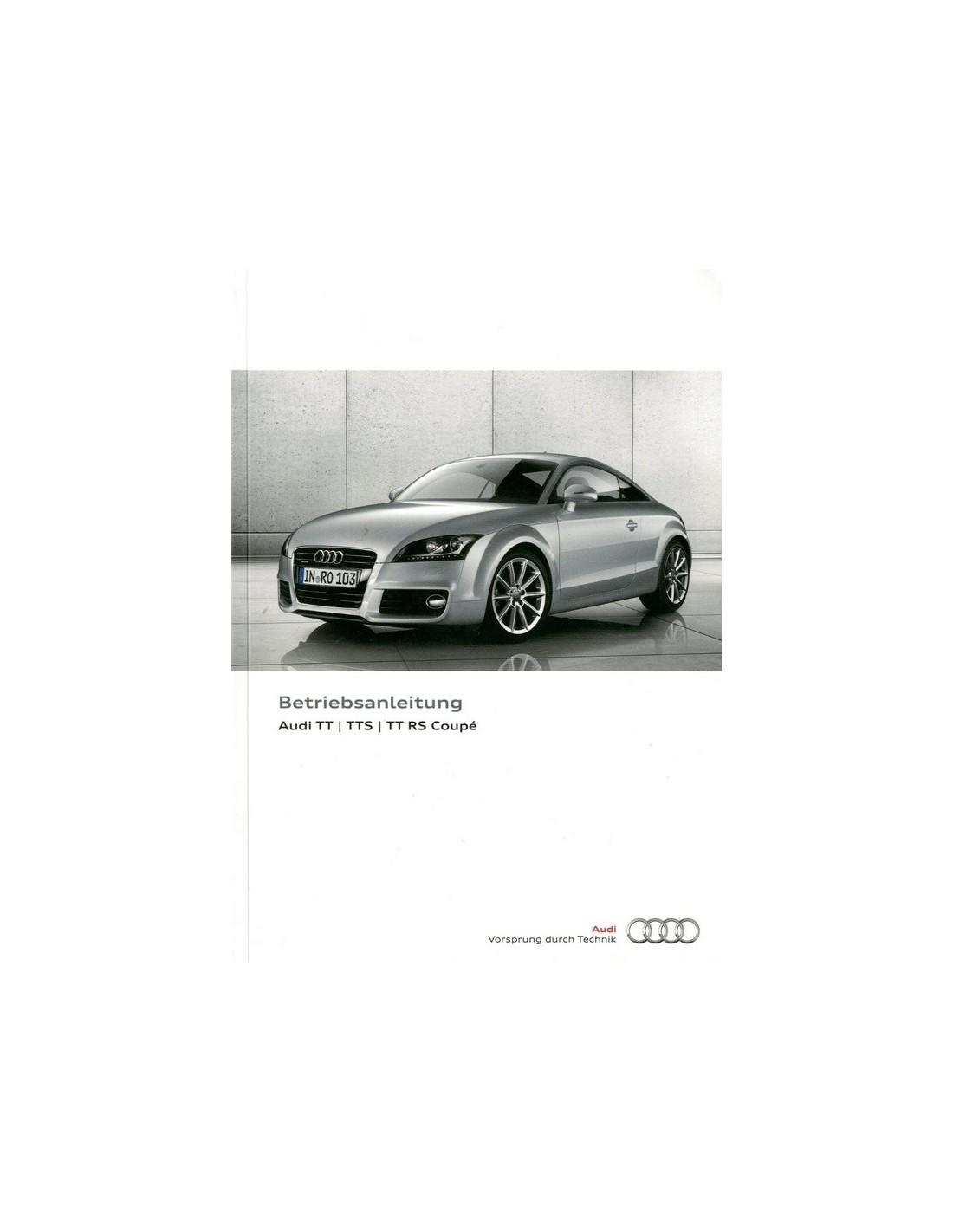 2013 audi tt tts rs coupe owner s manual german rh autolit eu