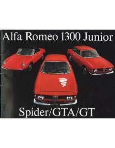 1969 ALFA ROMEO 1300 JUNIOR SPIDER GTA GT BROCHURE NEDERLANDS