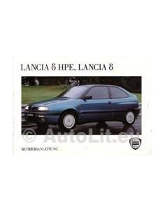 1995 LANCIA DELTA & HPE INSTRUCTIEBOEKJE DUITS