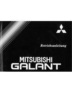 1991 MITSUBISHI GALANT INSTRUCTIEBOEKJE DUITS