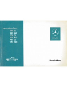 1974 MERCEDES BENZ SL & SLC KLASSE INSTRUCTIEBOEKJE NEDERLANDS