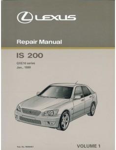 1999 LEXUS IS 200 CHASSIS & CAROSSERIE WERKPLAATSHANDBOEK ENGELS