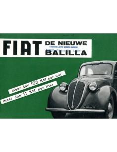 1938 FIAT BALILLA BROCHURE NEDERLANDS