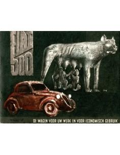 1936 FIAT TOPOLINO BROCHURE NEDERLANDS
