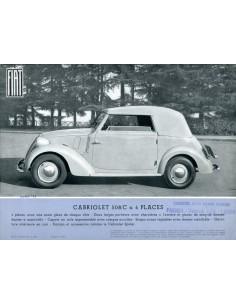 1937 FIAT 508/C LEAFLET FRANS