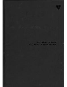 2009 LAMBORGHINI GALLARDO LP 560-4 & SPYDER HARDCOVER BROCHURE ENGELS