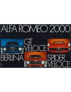 1973 ALFA ROMEO 2000 BERLINA GT VELOCE SPIDER BROCHURE NEDERLANDS