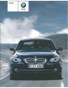 2007 BMW 5 SERIE INSTRUCTIEBOEKJE NEDERLANDS