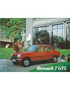 1980 RENAULT 7 GTL BROCHURE SPAANS