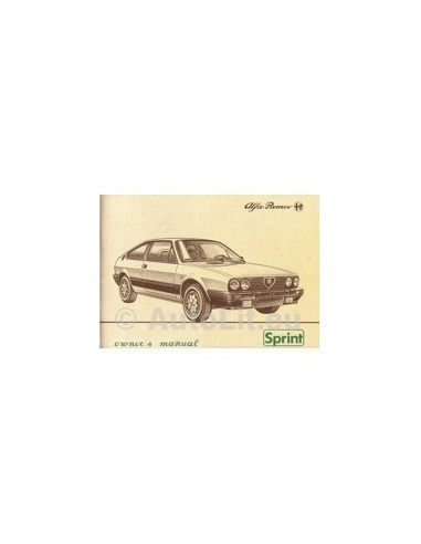 1983 ALFA ROMEO SPRINT INSTRUCTIEBOEKJE ENGELS