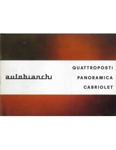 1966 AUTOBIANCHI QUATTROPOSTI PANORAMICA CABRIOLET BROCHURE NEDERLANDS