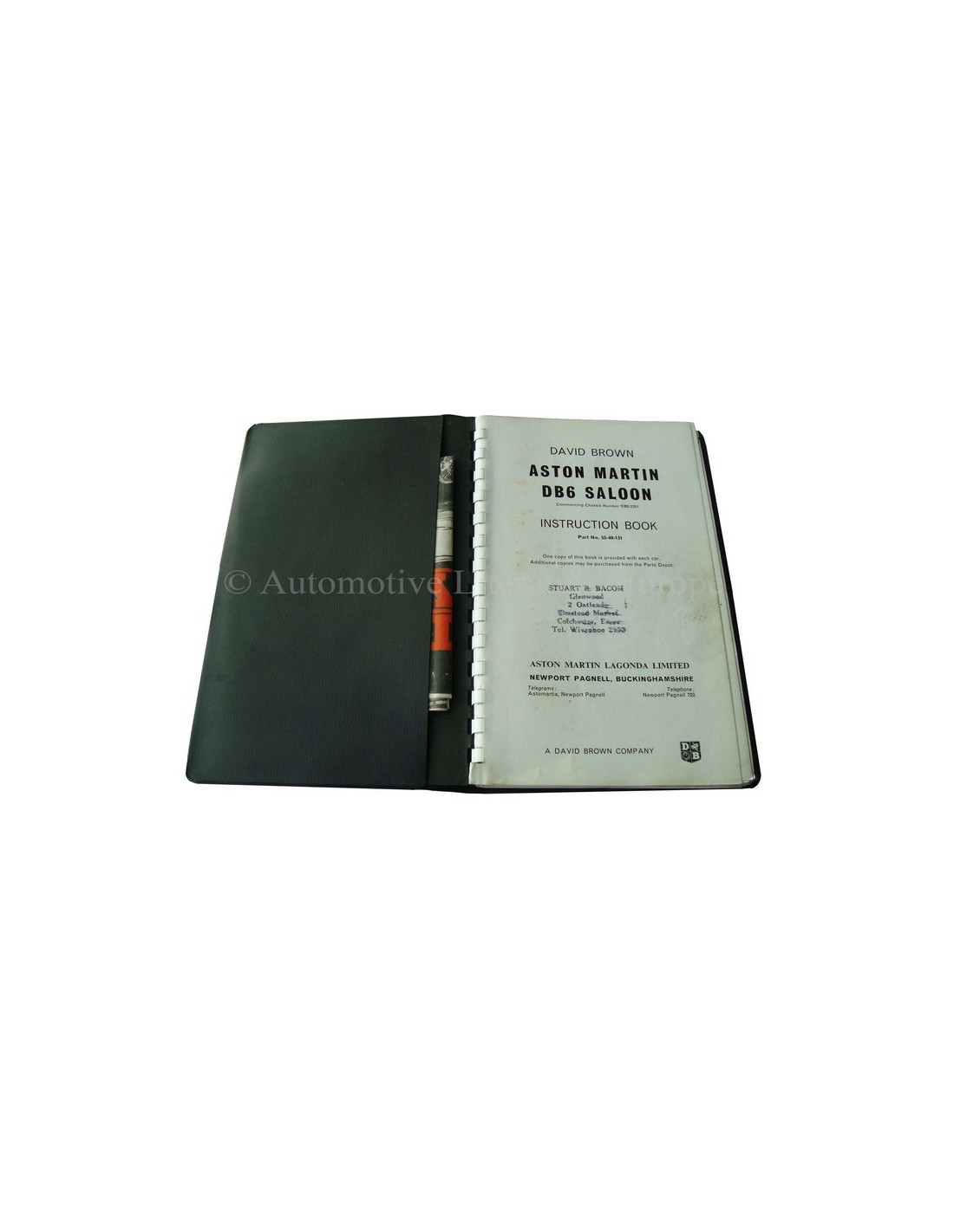 1967 Aston Martin Db6 Saloon Owners Manual English border=