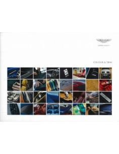 2013 ASTON MARTIN V12 VANTAGE S & RAPIDE S KLEUREN & BEKLEDING BROCHURE ENGELS