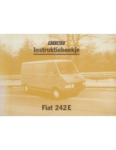 1981 FIAT 242 E INSTRUCTIEBOEKJE NEDERLANDS