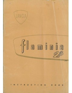 1965 LANCIA FLAMINIA INSTRUCTIEBOEKJE ENGELS