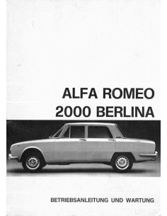 1971 ALFA ROMEO 2000 BERLINA INSTRUCTIEBOEKJE DUITS