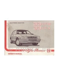1988 ALFA ROMEO 33 1.7 OWNERS MANUAL HANDBOOK ENGLISH