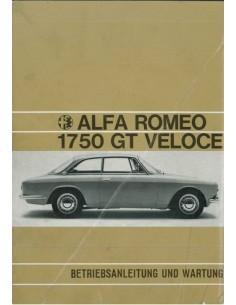 1970 ALFA ROMEO GT VELOCE 1750 INSTRUCTIEBOEKJE DUITS