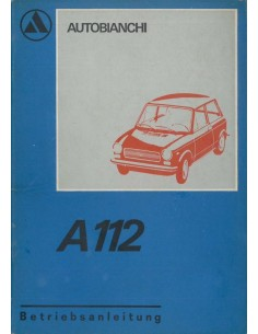 1972 AUTOBIANCHI A112 INSTRUCTIEBOEKJE DUITS